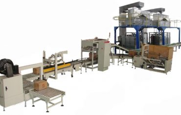 Automatic carton box filling packaging production line
