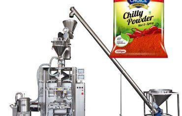 پوکر اور کالی کا کھانا پاؤڈر کے لئے ایکگر فلر کے ساتھ VFFs بیگگر پیکنگ مشین